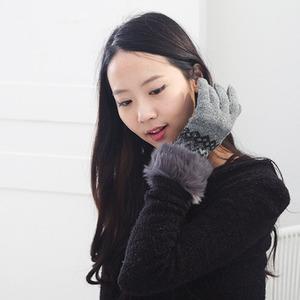 [현재분류명],손목토끼털 니트장갑 HW016,장갑,방한장갑,니트장갑