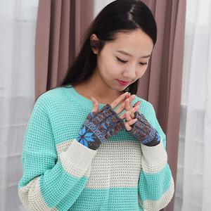 [현재분류명],눈꽃 손가락장갑 HW018,장갑,방한장갑,니트장갑
